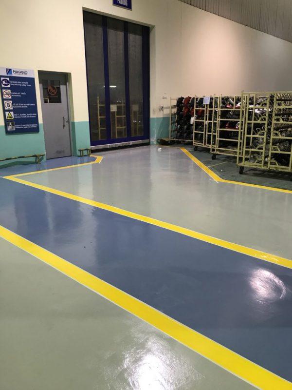 hoàn thành sơn epoxy nhà máy piaggio vĩnh phúc