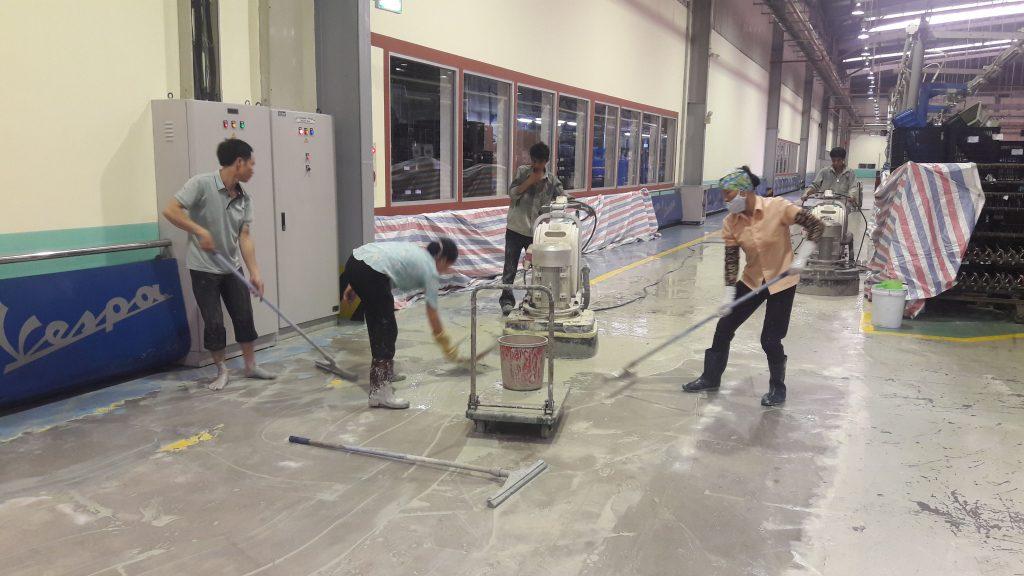 xử lý sơn epoxy nhà máy piaggio vĩnh phúc