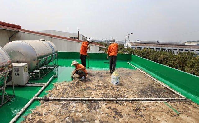 xử lý mái epoxy nhà máy